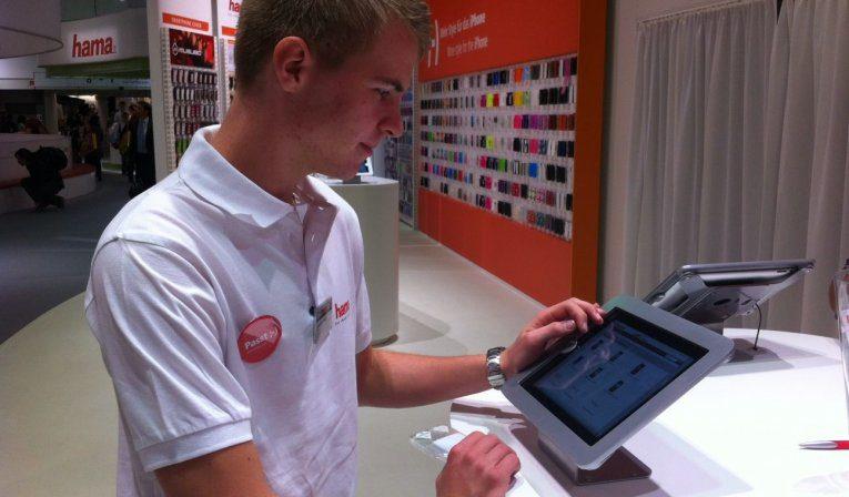 Hama use Maclocks iPad Enclosures at IFA 2012 trade show
