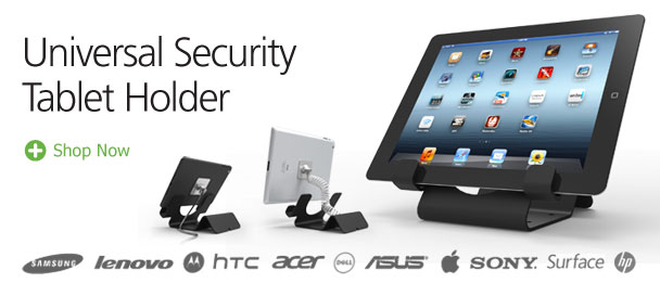 universal tablet holder with a lock by Maclocks