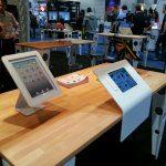 Great Times at CES 2014! Maclocks debuts Slide iPad POS Stand and MediCart iPad Workstation