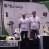 Maclocks representatives setting up for the show!
