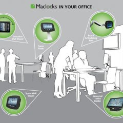 maclocks, office, tablet, ipad, reach, swan, company, business
