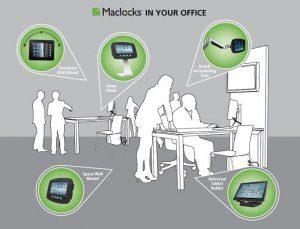 maclocks, office, tablet, ipad, reach, swan, company, business