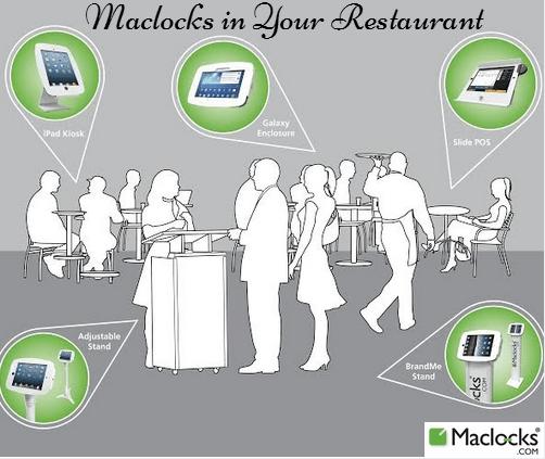 maclocks, lock, ipad, restaurant, tablet, display, secure, ipad, galaxy, space, enclosure, kiosk, stand, slug