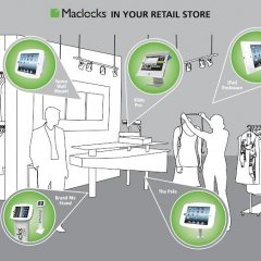 maclocks, locks, lock, retail, store, shop, shopping, ipad, kiosk, tablet, holder, solution, pole, enclosure, brandme, stand