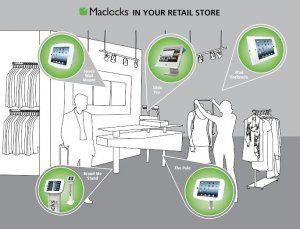 maclocks, locks, lock, retail, store, shop, shopping, ipad, kiosk, tablet, holder, solution, pole, enclosure, brandme, stand