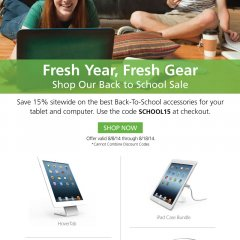 maclocks, locks, lock, security, hardware, school, back to school, sale, back to school sale, apple, ipad, tablet, tablets, solution, gear, fresh gear, hovertab, bundle, cartipad, uno