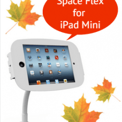 maclocks, lock, mac, ipad, ipad mini, ipadmini, space, flex, flexible, tablet, enclosure, kiosk, arm, portrait, landscape