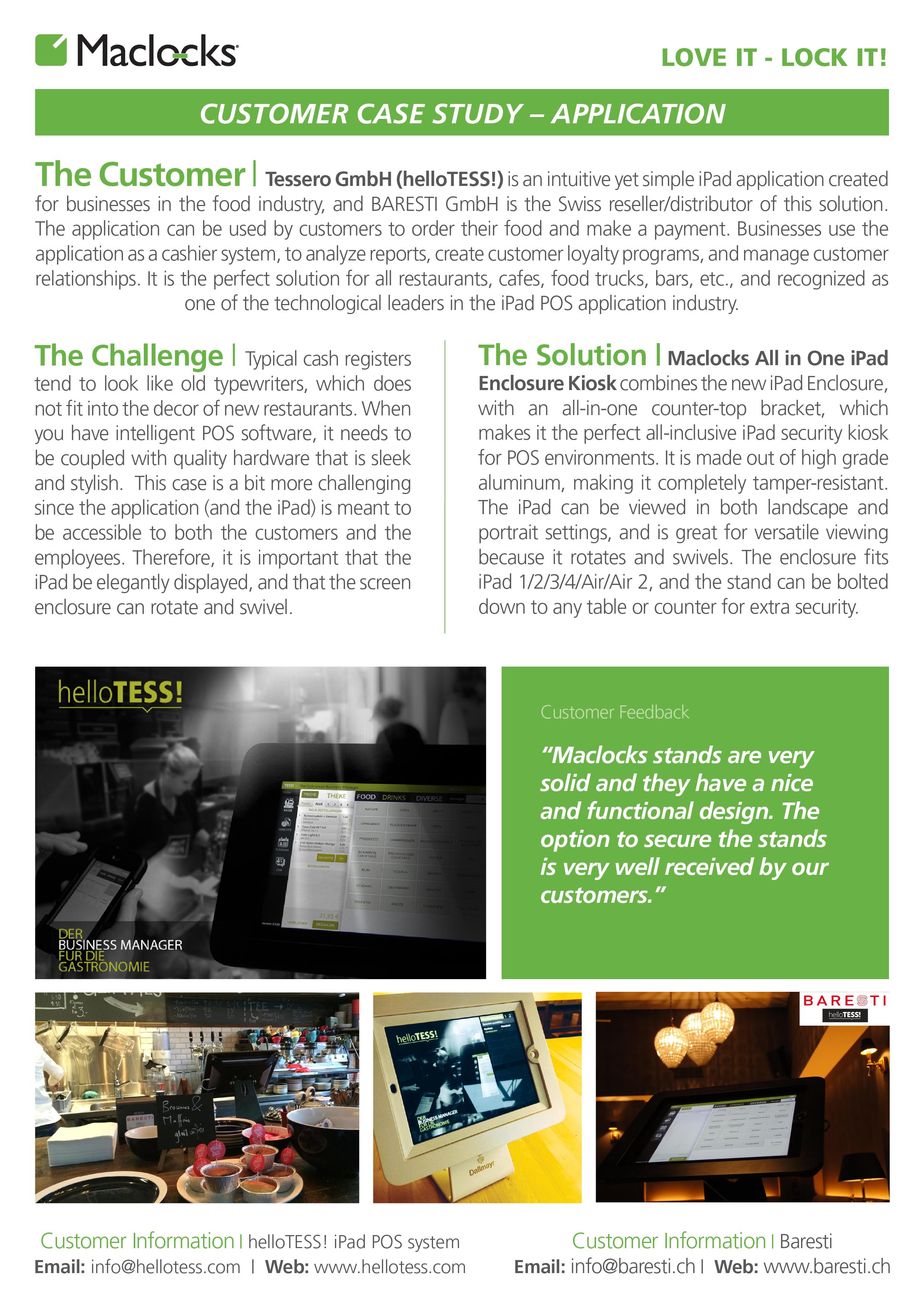 maclocks, case study, application, app, apps, applications, baresti, ipad, ipads, tablet, tablets, restaurant, restaurants, food