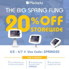 maclocks, spring, sale, mac, mac lock, lock, security, display