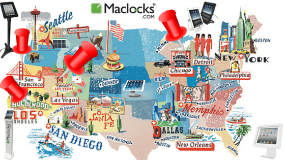 maclocks, map, security, display, secured display, ipad, ipad enclosure, ipad lock, tablet lock