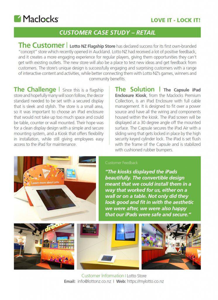 maclocks, customer, customer case, customer case study, case study, ipad, lotto, new zealand