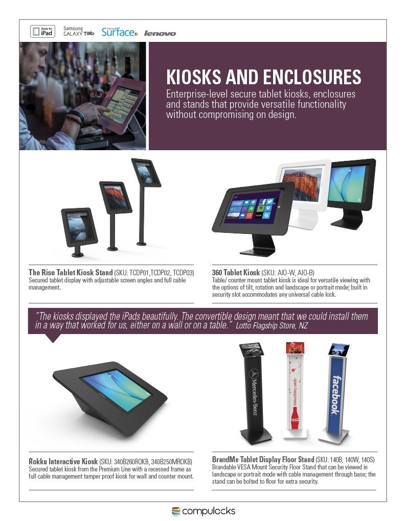compulocks, maclocks, solutions, ipad, tablet, galaxy, enclosure, kiosk, enclosures, kiosks, stands, mount, mounts, stand, kiosk stand, surface enclosure, maclocks