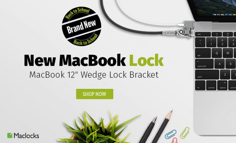 Maclocks Macbook 12 Lock First Solution To Solve Macbook Security Risk Maclocks Blog Ipad Enclosures Macbook Locks Kiosks Mobile Pos Tablet Wall Mounts Ipad Galaxy Surface