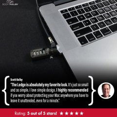 kelby, scott kelby, scott kelby review, macbook lock, macbook pro lock, ledge macbook