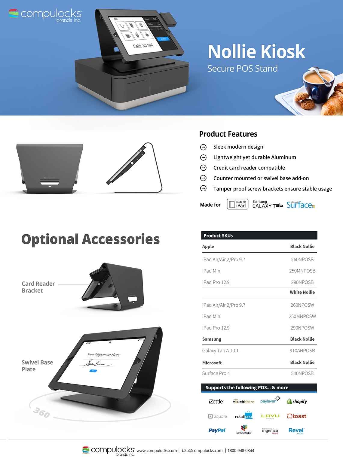 Nollie Galaxy Tab A 10.1 Kiosk