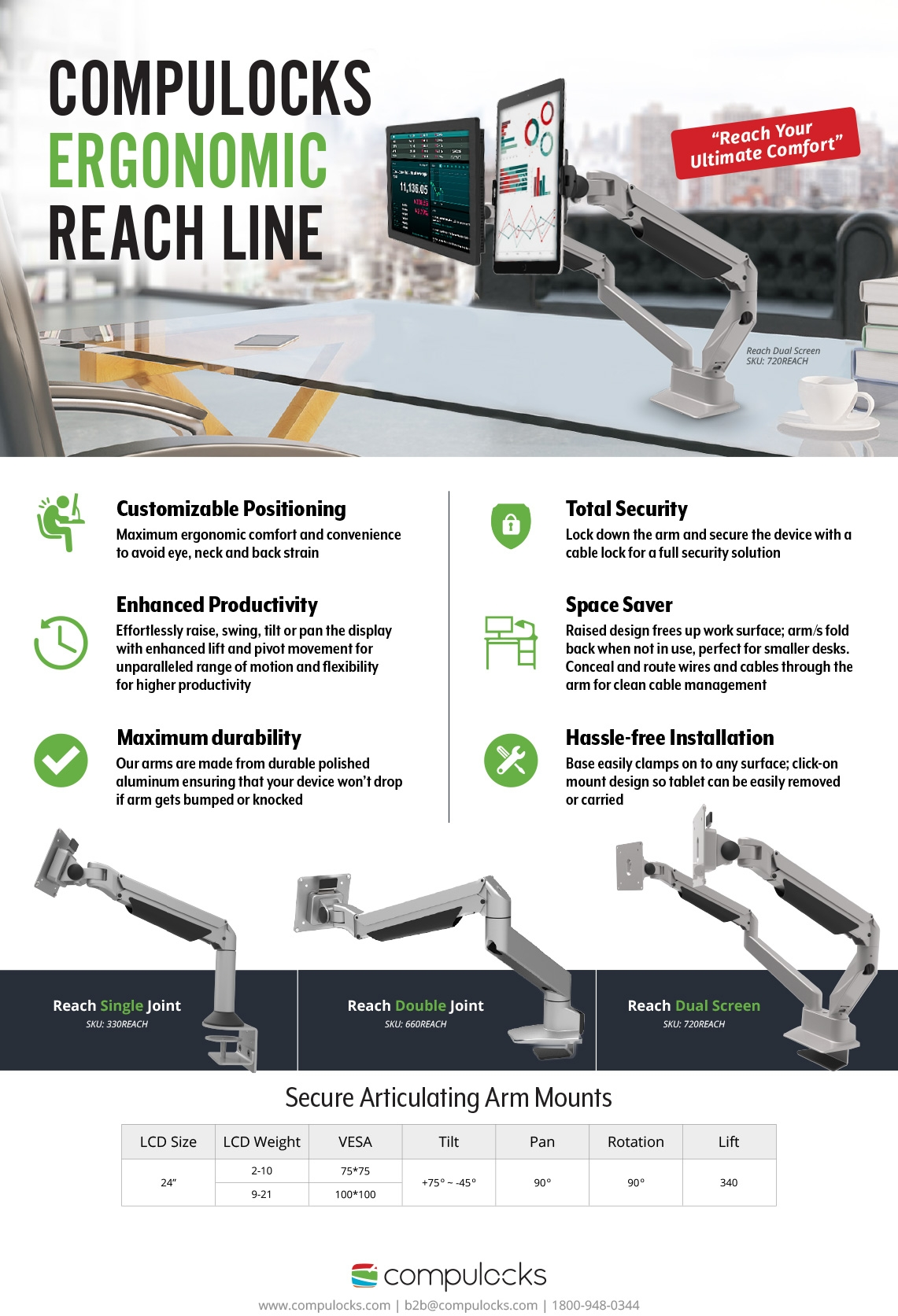 Samsung TouchScreen Reach Articulating Mount