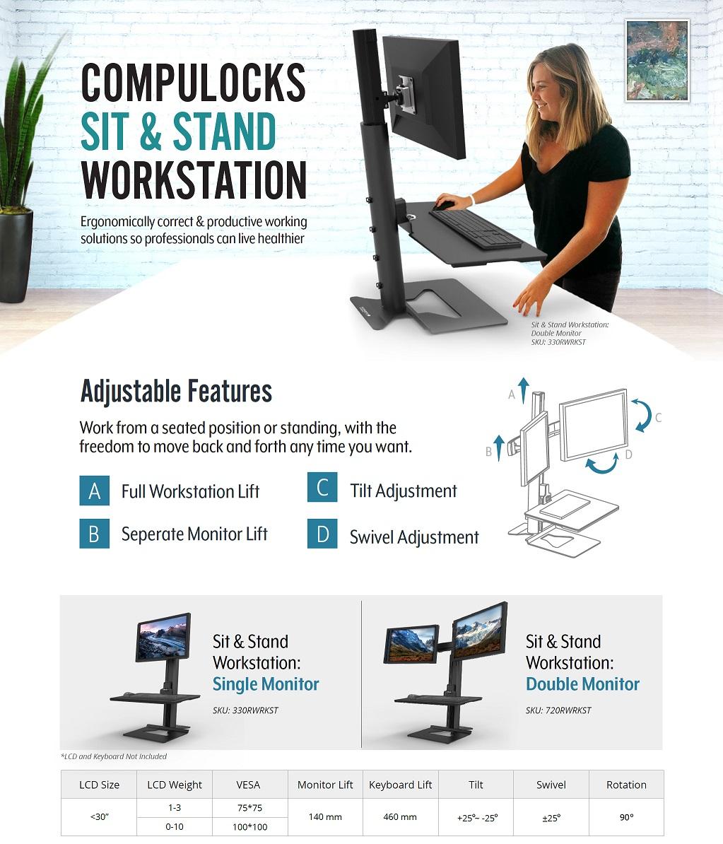Reach Sit Stand Workstation